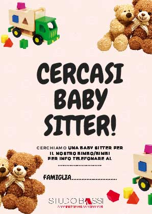 cercasi baby sitter