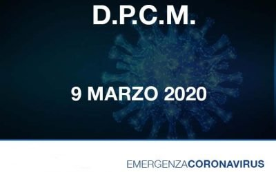 """DPCM del 09.03.2020 restrizioni previste per le """"zone rosse"""" Milano"""